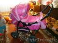 коляска daimler karolinka розовая